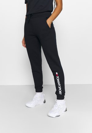 CUFF LOGO - Tracksuit bottoms - blue