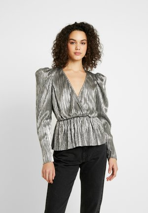 PLEATED WRAP - Blouse - silver