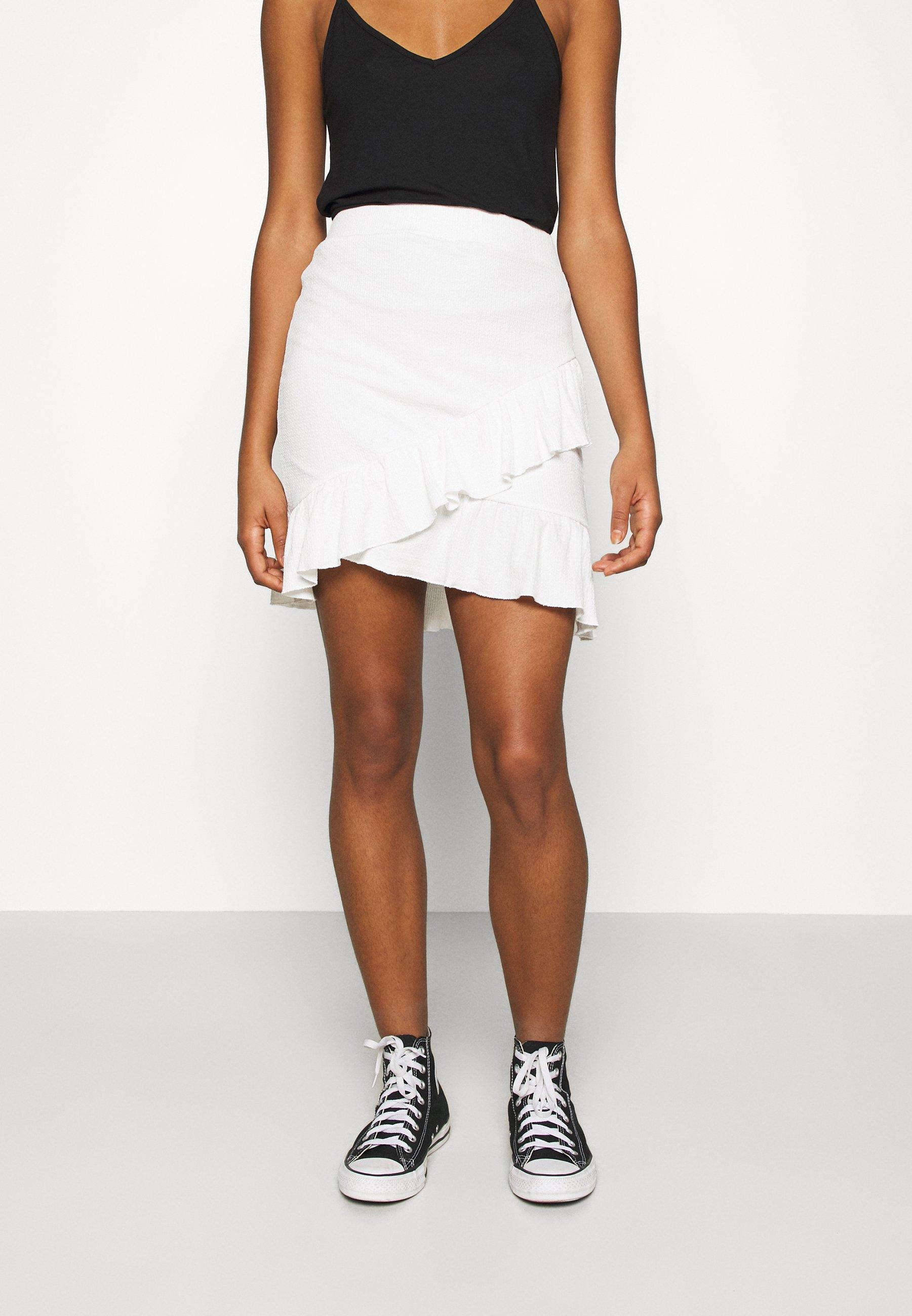 Women FRILL STRUCTURED SKIRT - Mini skirt