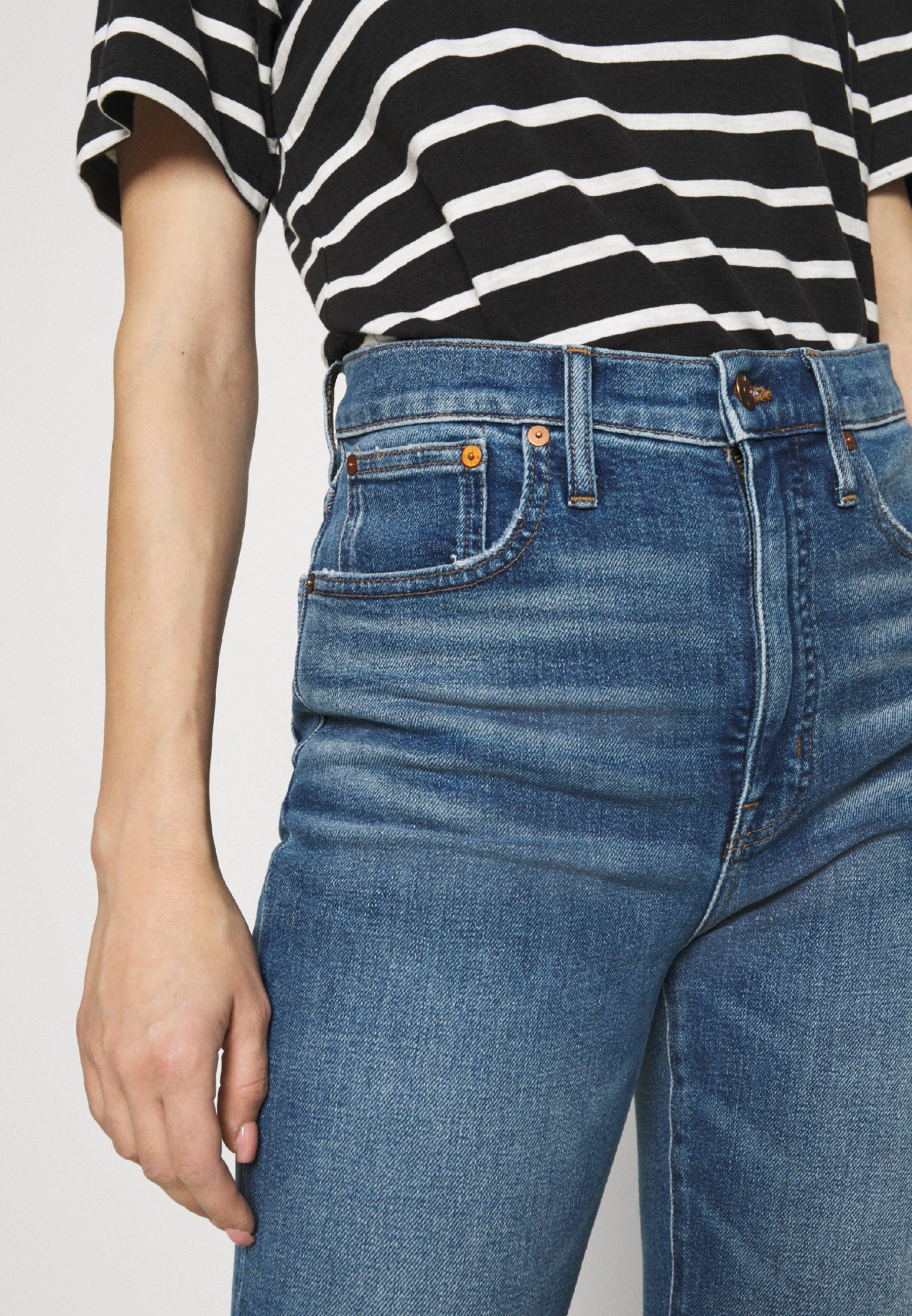 Madewell WIDE LEG LIGHT INDIGO - Flared jeans - reggie