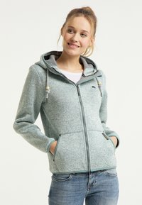 Schmuddelwedda - Fleece jacket - rauchmint melange - 0