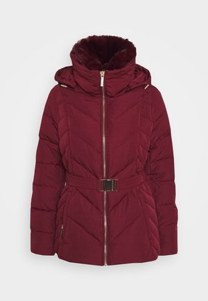 FITTED PUFFER - Dunjacka - dark brandy