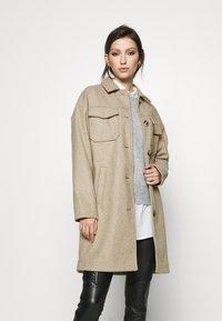 Vero Moda - VMBONUSRAY  - Classic coat - silver mink melange - 0