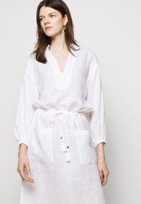 Tory Burch - MIDI TUNIC DRESS - Day dress - white - 3