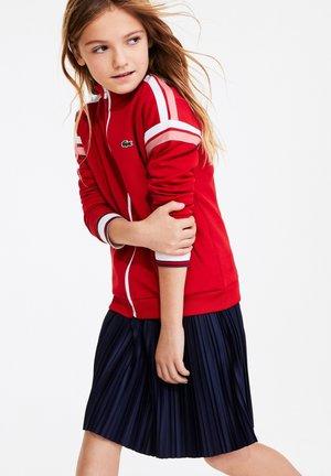 Zip-up hoodie - rouge / blanc