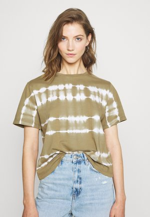 OBJHERA - Print T-shirt - khaki