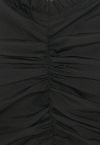 Missguided Tall - RUCHED MILKMAID - Blůza - black - 2
