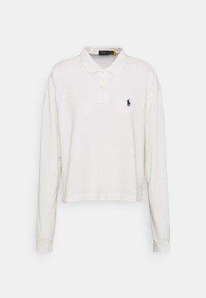 LONG SLEEVE - Koszulka polo - deckwash white