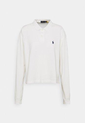LONG SLEEVE - Polo shirt - deckwash white