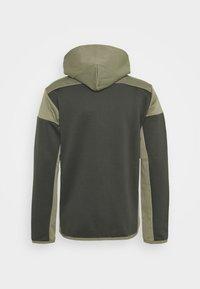 adidas Performance - HOODIE AEROREADY HOODED TRACK  - Zip-up hoodie - dark green - 1