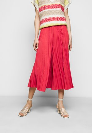 MERI - Pleated skirt - amaranth red