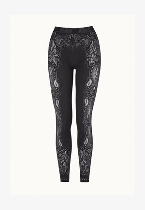 OM - Leggings - Trousers - black/ash