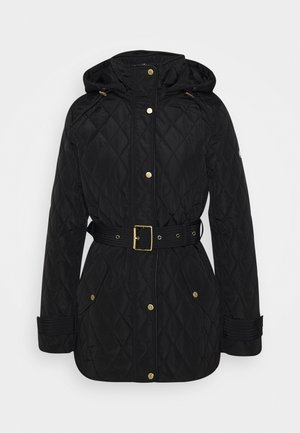 QUILTED JACKET - Short coat - black