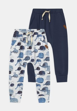 WHALES BAGGY 2 PACK UNISEX - Tracksuit bottoms - dark blue