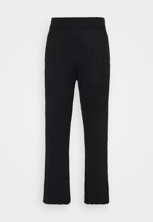WIDE LEG TROUSER - Bukse - black