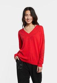 Desigual - JERS_GANTE - Pullover - red - 0