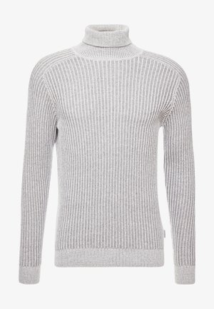 Strickpullover - 111 - mottled light grey