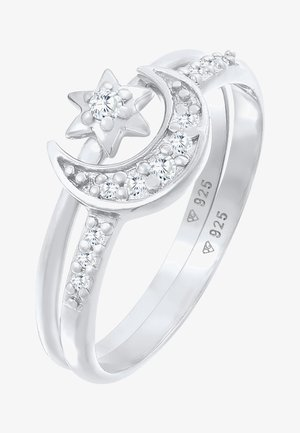 2 PACK STAR MOON - Ring - silber
