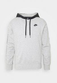 Hoodie - grey heather/black