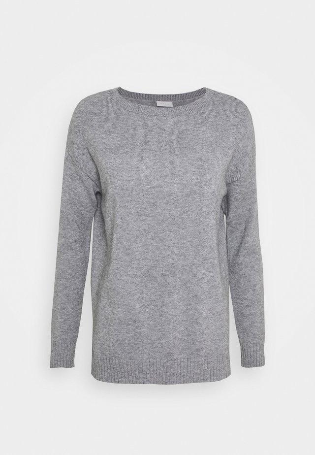 Strickpullover - medium grey melange