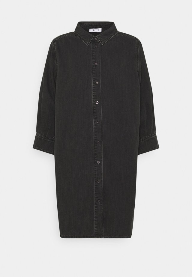 SIENA DENIM DRESS - Shirt dress - black washed