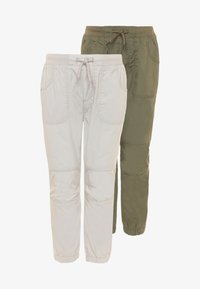 OVS - LONG TROUSER 2 PACK - Pantaloni - nimbus cloud/hedge green - 0