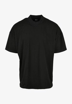 OVERSIZED MOCK NECK - Basic T-shirt - schwarz