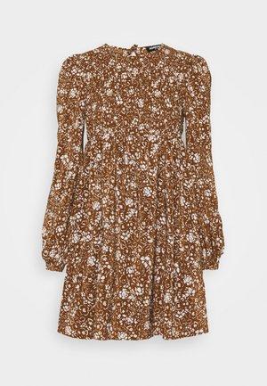 FLOWERPOT DRESS - Day dress - brown