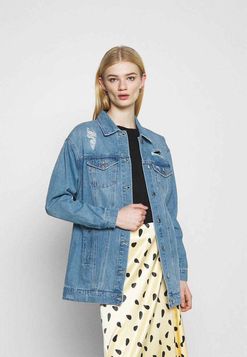 Vero Moda - VMOLIVIA JACKET - Denim jacket - medium blue denim