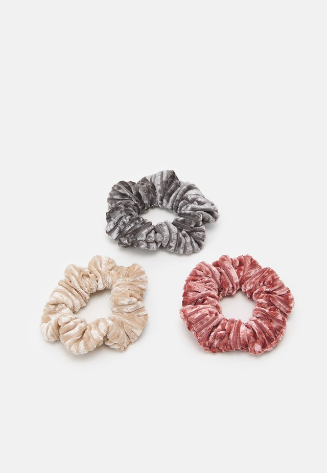 MINI SCRUNCHIES 3 PACK - Hair Styling Accessory - pink
