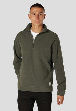 Sweater met rits - beetle green