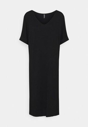 PCNEORA FOLD UP DRESS - Jerseyjurk - black