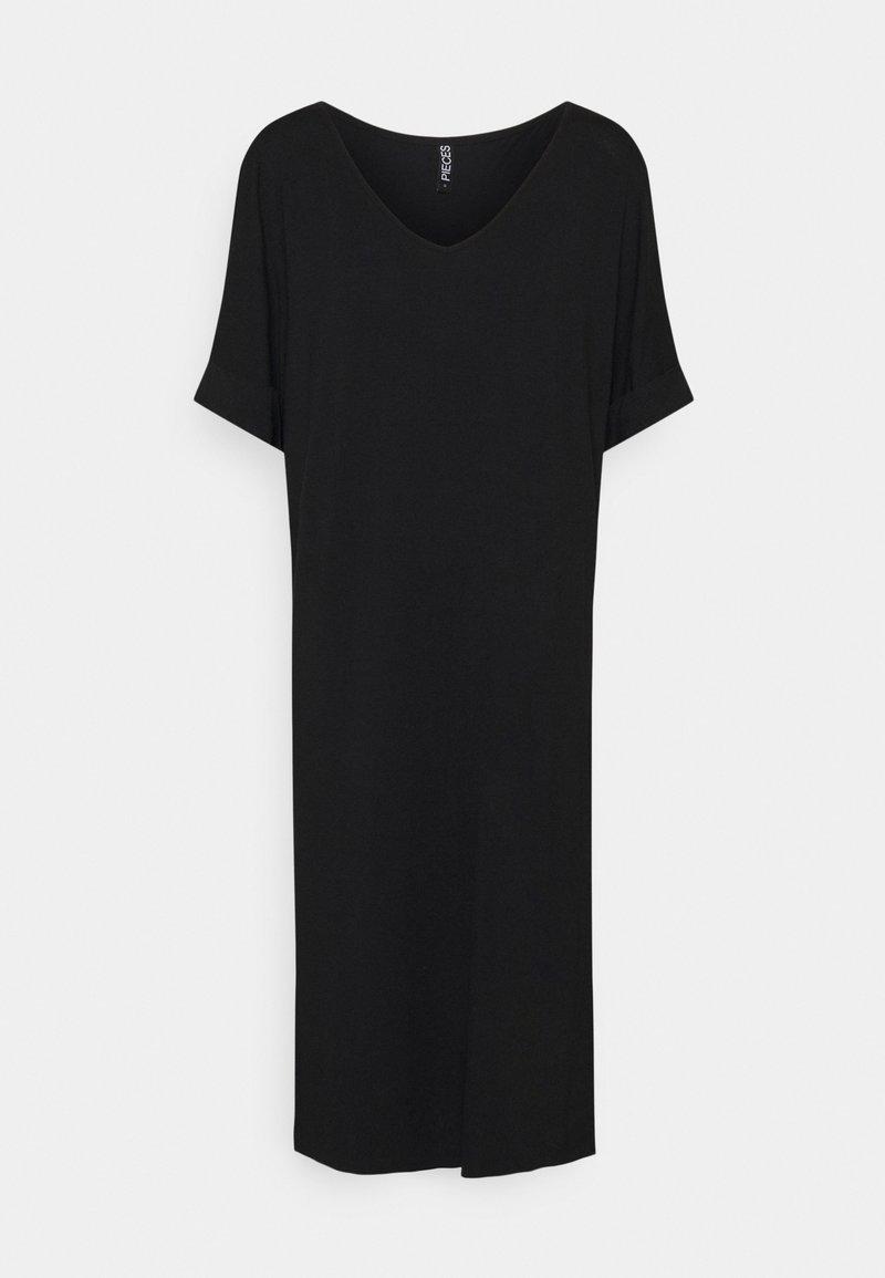 Pieces - PCNEORA FOLD UP DRESS - Robe en jersey - black