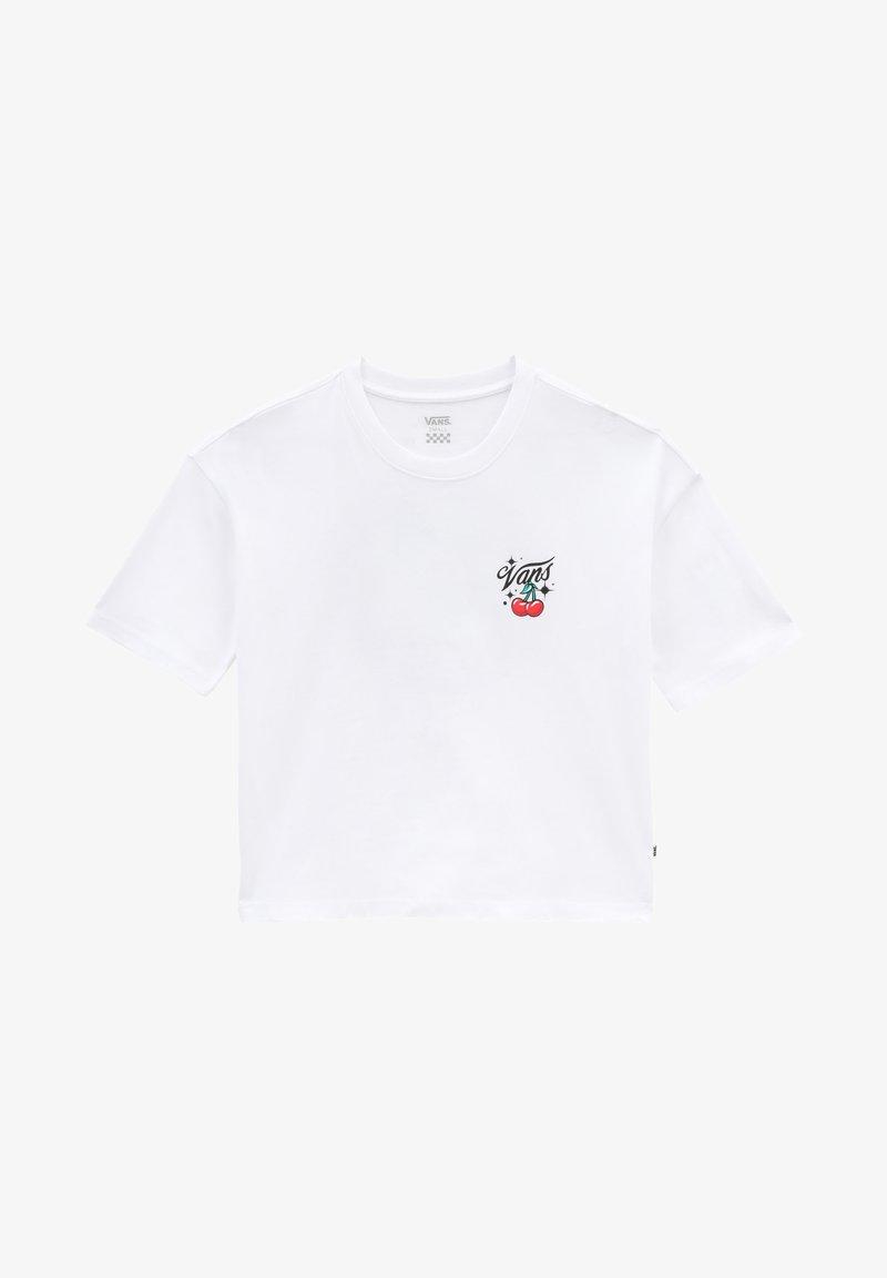 Vans - WM BT OCCASION S/S CROP - Print T-shirt - white