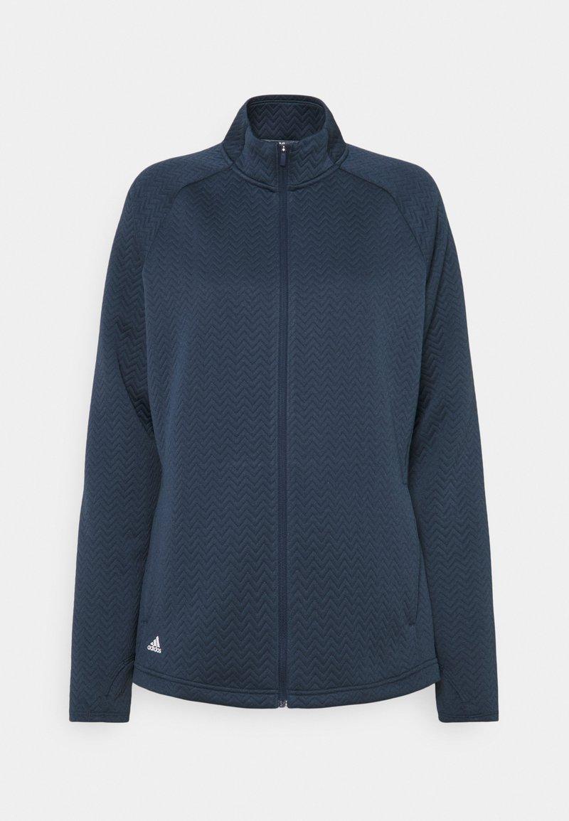 adidas Golf - TEXTURE FULL ZIP  - Training jacket - crew navy