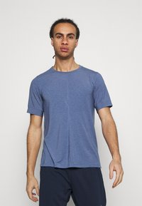 Nike Performance - DRY YOGA - Camiseta básica - midnight navy/ashen slate - 0