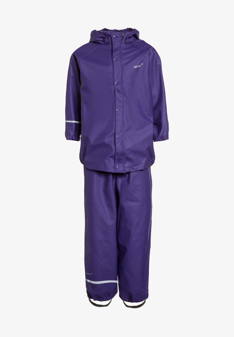 CeLaVi - RAINWEAR SUIT BASIC SET WITH FLEECE LINING - Rain trousers - purple