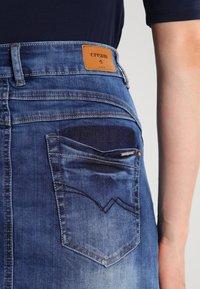 Cream - A-line skirt - rich blue denim - 4