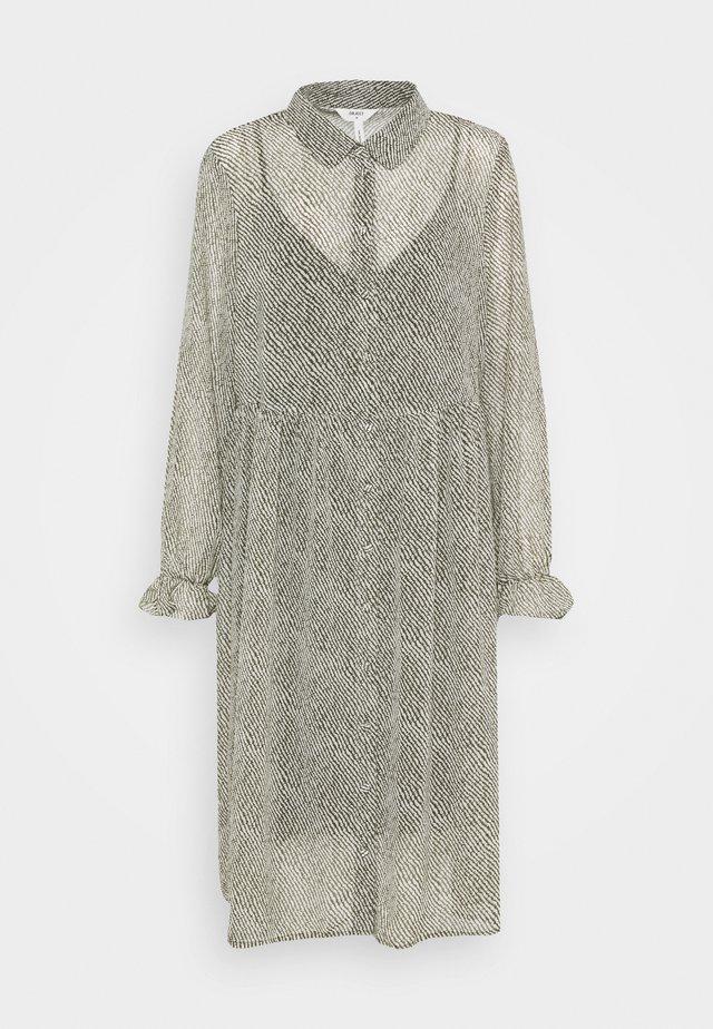 OBJMIE DRESS - Vestito estivo - forest night/stroke print