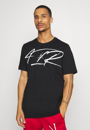 SCRIPT AIR CREW - T-shirt con stampa - black/white/smoke grey