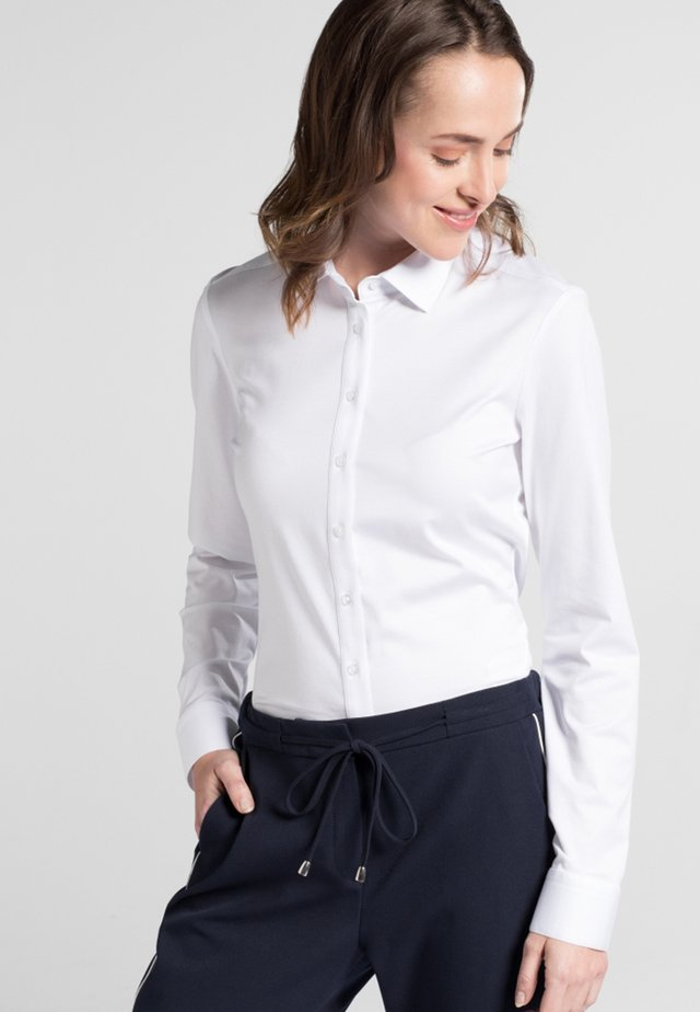 SLIM FIT - Button-down blouse - white