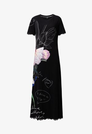 FLOR - Jumper dress - black