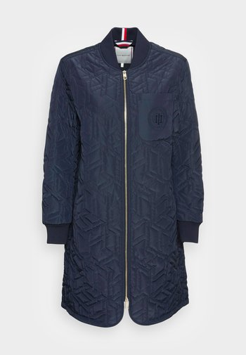 CUBE QUILTED LONG BOMBER - Chaquetas bomber - blue