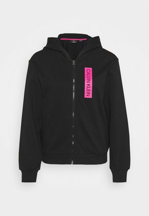 FULL ZIP HOODY - Collegetakki - black