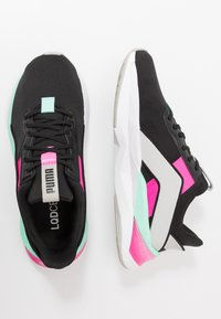 Puma - LQDCELL SHATTER XT GEO - Sports shoes - black/gray violet/luminous pink - 1