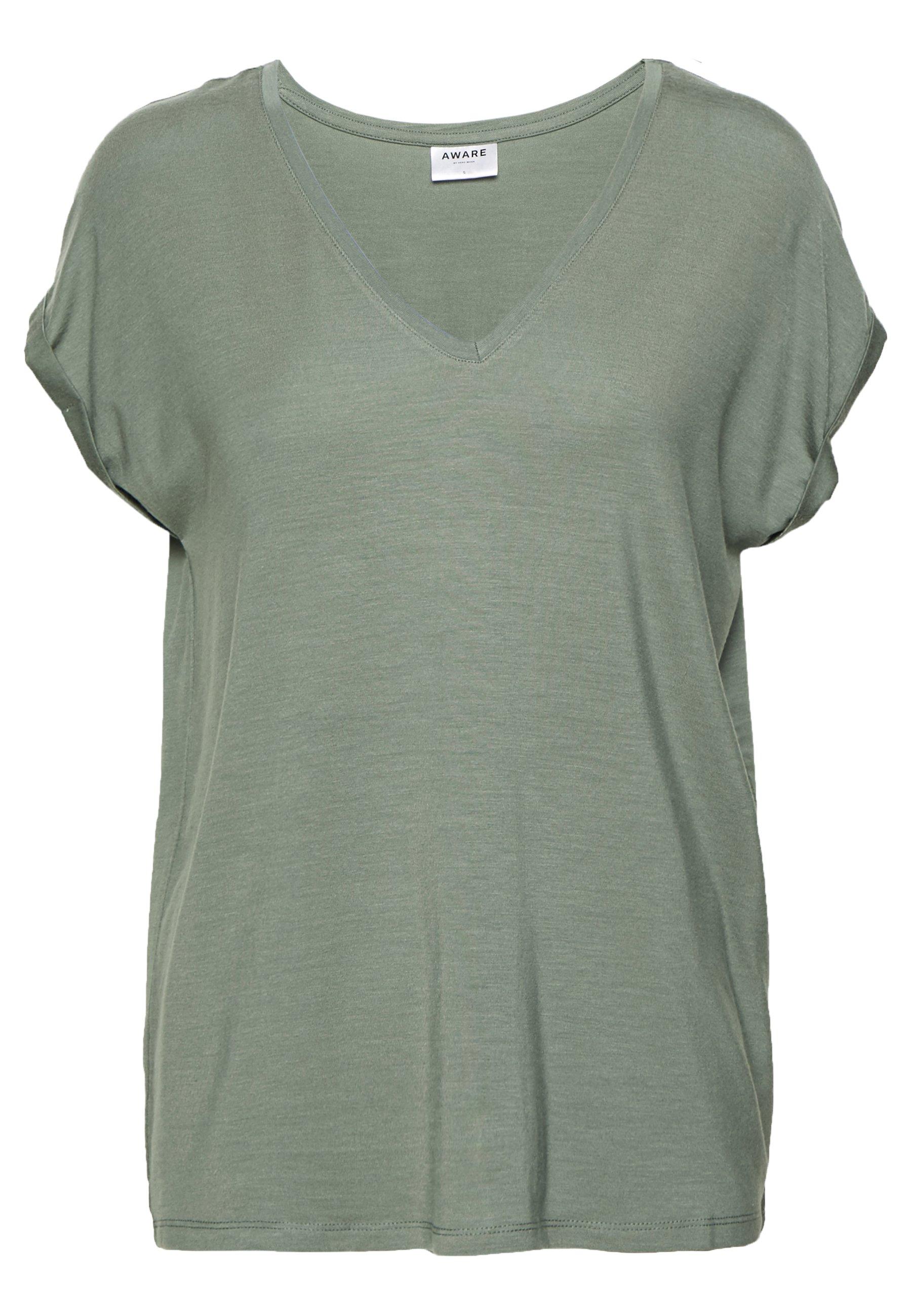 Mujer VMAVA V NECK TEE - Camiseta básica