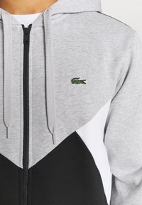 Lacoste Sport - TAPERED - Mikina na zip - gris chine/noir/blanc - 5