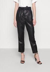 Miss Selfridge - PAPERBAG TROUSER - Trousers - black - 0
