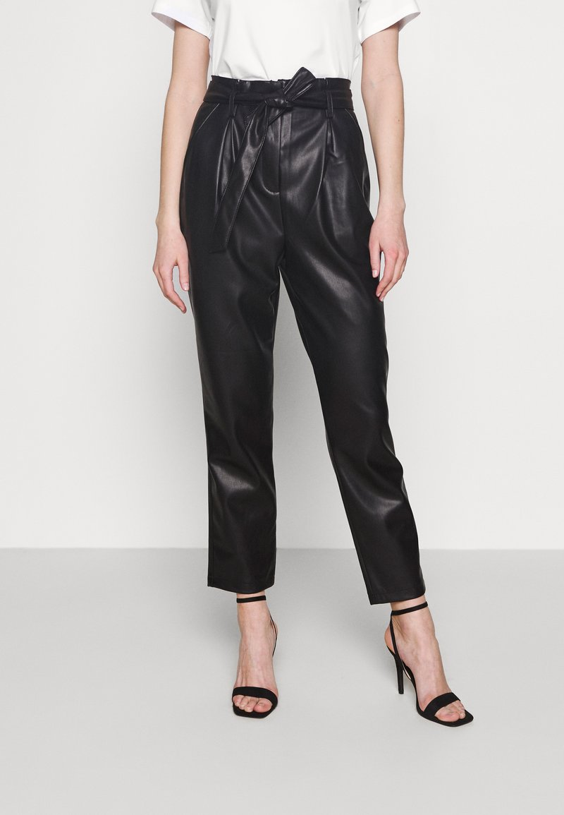 Miss Selfridge - PAPERBAG TROUSER - Trousers - black