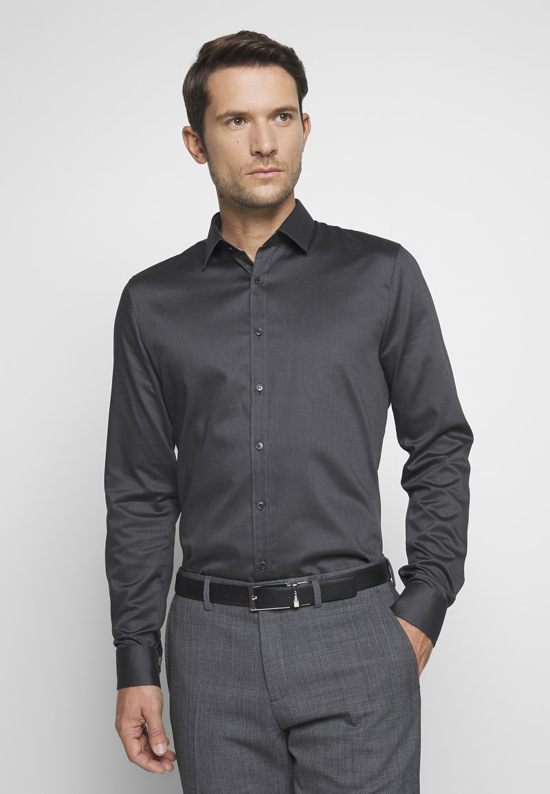 OLYMP - OLYMP NO.6 SUPER SLIM FIT  - Zakelijk overhemd - schwarz
